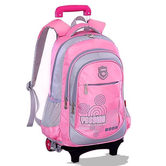 8554563ea5 GudeHome Zaino Trolley borsa di scuola con ruote zaino di scuola con ruote  per viaggio scuola bambini Blu: Amazon.it: Prima infanzia