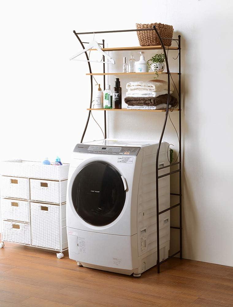 フラップシップファニチャー 洗濯機ラック アンティーク ブラウン