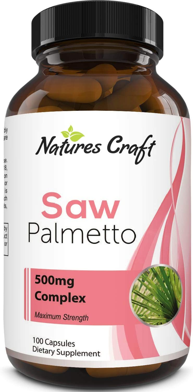 Saw Palmetto Capsules for Hair Loss - Saw Palmetto for Women and Men Hair Vitamins for Faster Hair Growth and Healthy Hair Supplement - Saw Palmetto Prostate Supplement for Prostate Health: Health & Personal Care