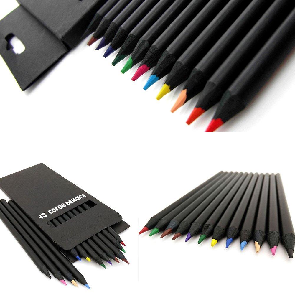 Matite colorate 12PCS colorato disegno schizzo a carboncino matita affilata artista acquerello matite per principianti bambini 12 pcs