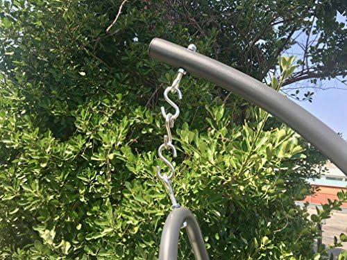 Eurolandia 93502 Design Hanging Chair Amaca a Dondolo Sospesa con Braccio Grigio Scuro