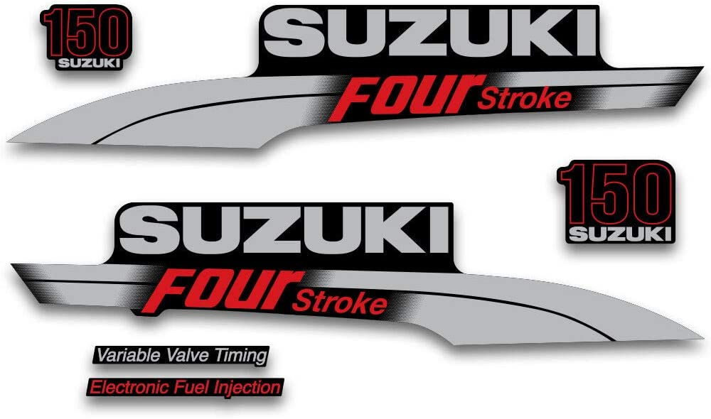 AMR Racing Outboard Engine Graphics Kit Sticker Decal Compatible with Yamaha 150 2013+ 4 Stroke