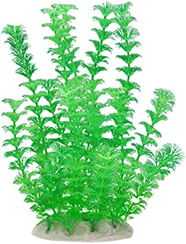LQNB Decorazione pianta Artificiale di plastica per Acquario Verde