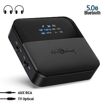 NEW Bluetooth 5.0 Transmitter Receiver Audio Optical Wireless Adapter HD fr TV
