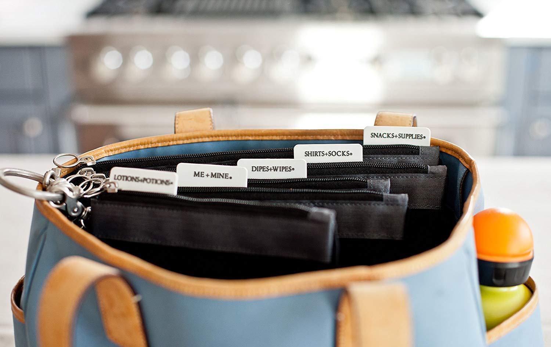 74f0c6a85 Amazon.com : sugarSNAP Diaper Bag Organizer Files | Set of 5 Mesh Inserts |  Black + Gray : Baby