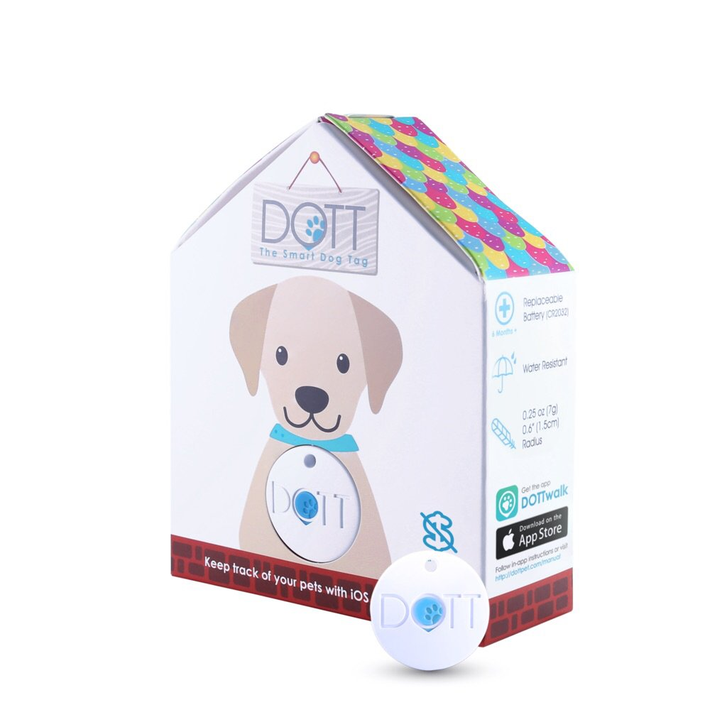DOTT The Smart Dog Tag 1.0 - Tracker for Dogs and Cats, Pet Finder, Virtual Leash, No Subscription (NOT A GPS TRACKER)