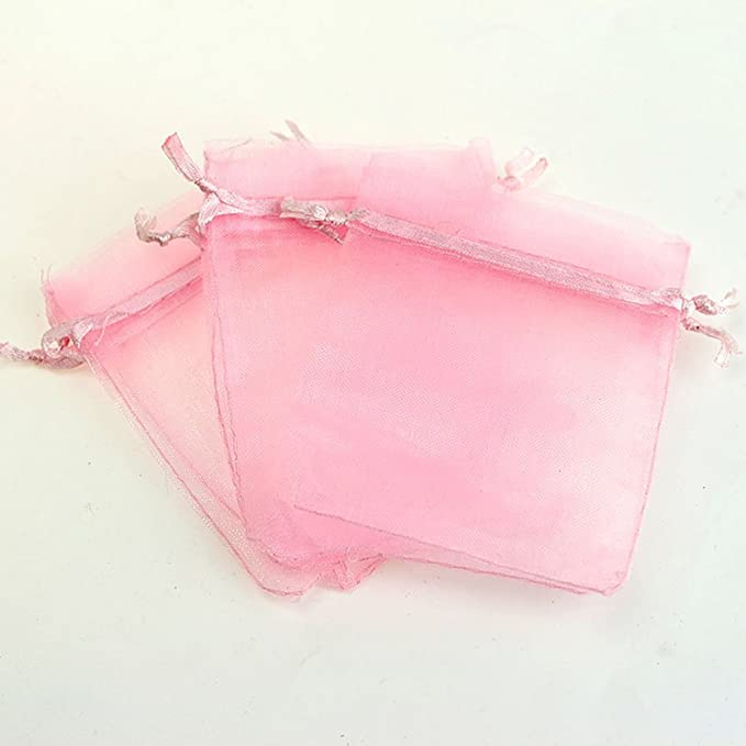 7ac9a35a0 UNICOCO 100 Piezas Bolsas de Organza Bolsitas de Tul para Regalos Joyas  Bodas Tansparente Pastel Pink: Amazon.es: Hogar