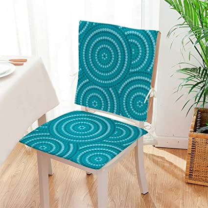 Magnificent Amazon Com Mikihome 2 Piece Set Chair Seat Pads Abstract Ncnpc Chair Design For Home Ncnpcorg