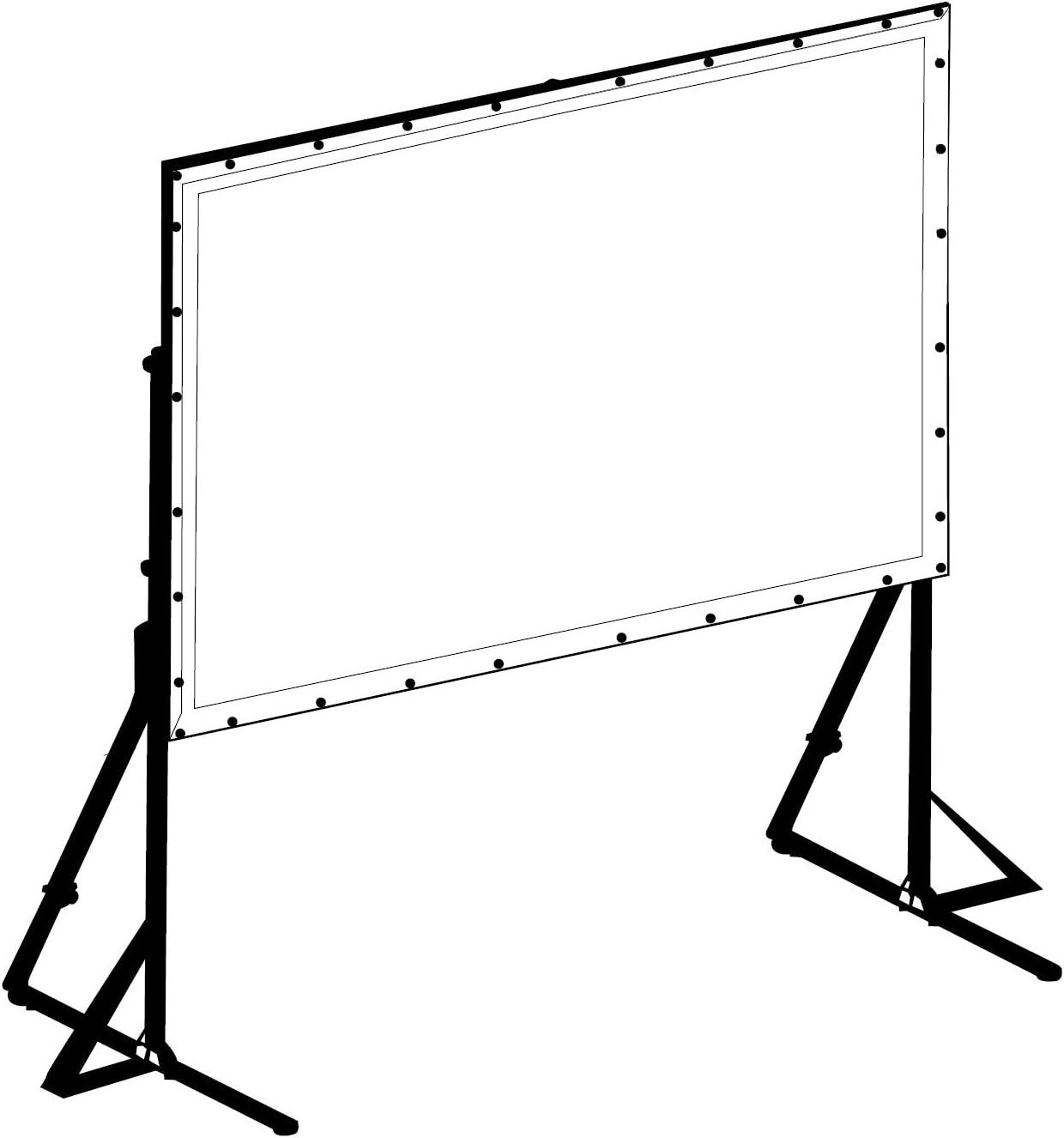 Telo da Proiezione perQuick-Folder Telo Ricambio per Proiettore a Bottoni ottimo per ogni Proiettore 100/% Professionale di Qualit/à Superiore HD! tela soft-white 258x161cm 120 16:10