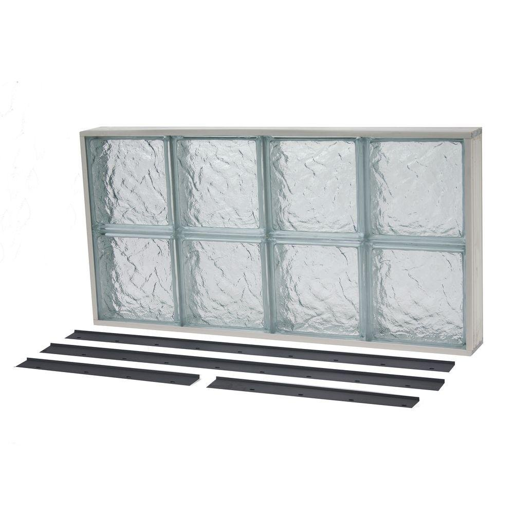 NailUp2 Solid Ice Pattern Glass Block Window