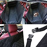 KYC Bench Seat Cargo Liner Cover, Waterproof, Anti-slip Oxford Fabric Strength & Hammock, Soft Padded, Car seat protector Durable Car Pet Mat Pet Dog Car Seat Cover for SUVs