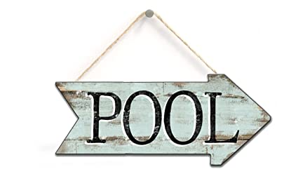 Wooden Sign Pool Arrow Patio Signs Swimming Pool Decor Summer Pool Arrows Direction Sign Arrows Pool Decor Home Accessory Gift Sign 8x15