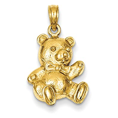 Amazon pendants children and baby charms 14k yellow gold teddy pendants children and baby charms 14k yellow gold teddy bear charm pendant aloadofball Gallery