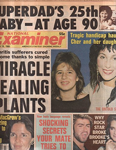 National Examiner 1985 Nov.19 Cheer,Ali MacGraw,Brooke Shields,George Michael