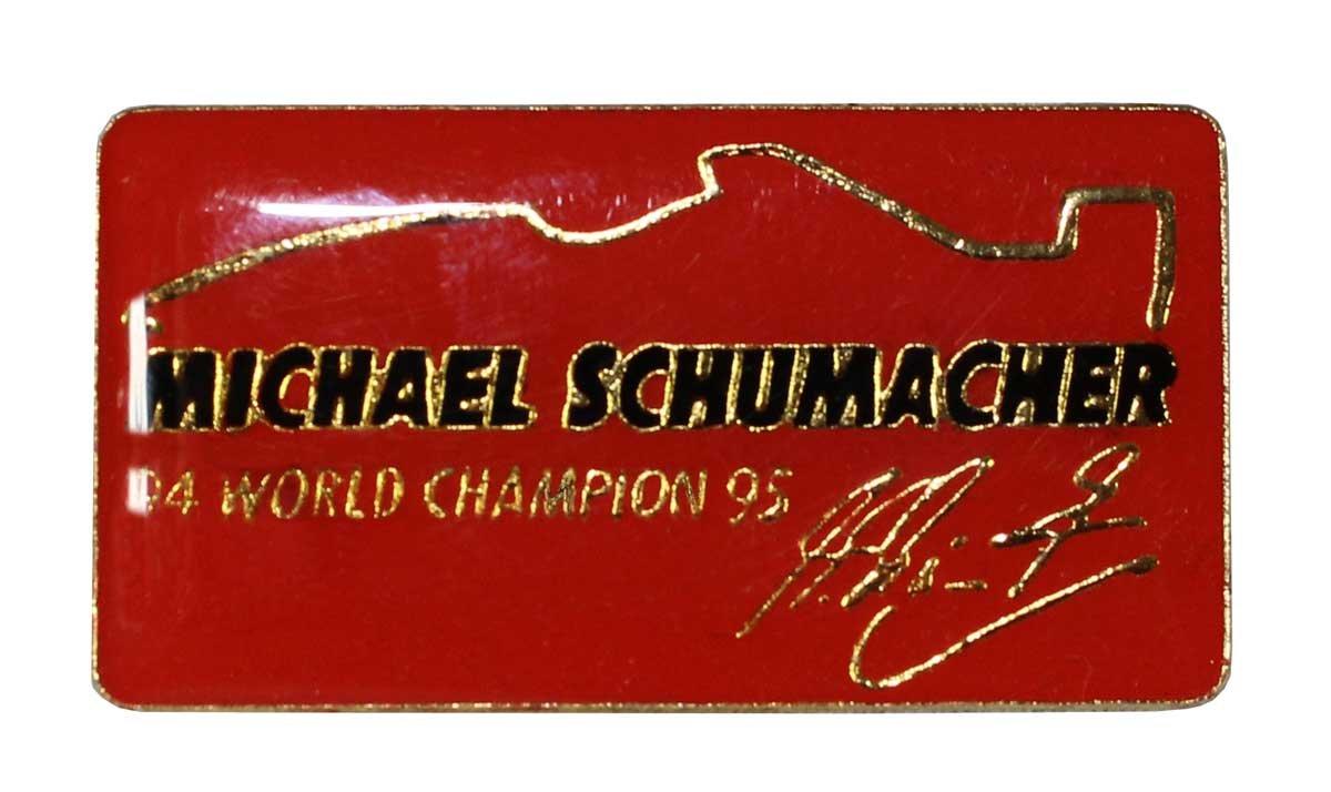Michael Schumacher Pin 94 World Champion 95