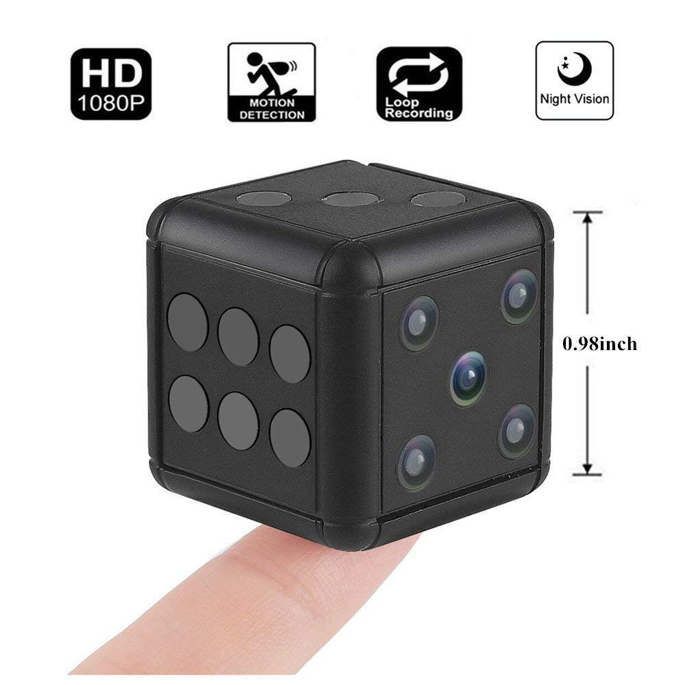 Acrotor Mini Hidden Spy Camera SQ16 1080P HD HD Video Recorder FOV 90 Degree Sports Camera with Night Vision and Motion Detection for Drones, FPV, Home and Office Surveillance