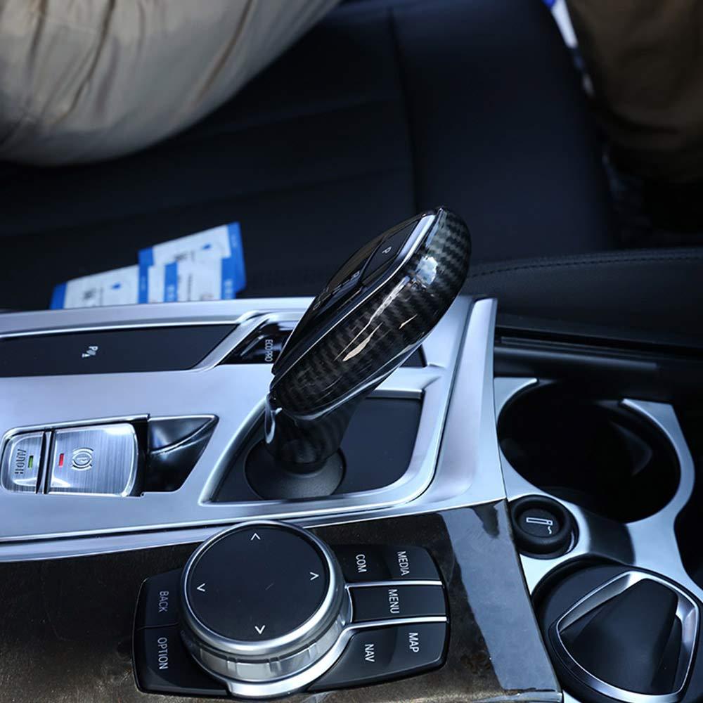 DIYUCAR Auto Speed Gear Shift Knob Head Covers Pegatinas para 5 7 Series G30 G38 G11 G12 X3 G01 G02 LHD Accesorios