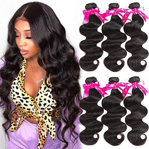 Beauty Princess 8A Brazilian Virgin Hair Body Wave 3 Bundles 16 18 20inch Unprocessed Human Hair Weave Bundles Soft Remy Hair