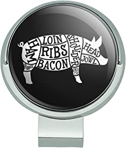 GRAPHICS & MORE Pork Pig Parts Illustration Bacon Golf Hat Clip with Magnetic Ball Marker