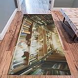 InterestPrint Home Contemporary Holy Library Design Modern Runner Rug Carpet 10'x3'3''