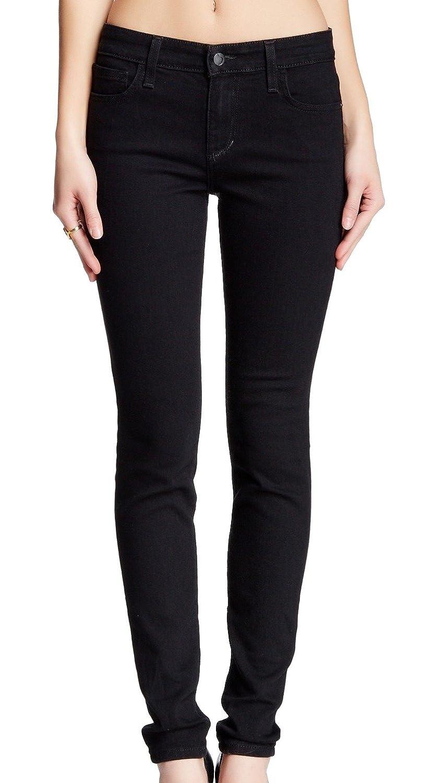Joe's Jeans Deep Black Denim Womens Skinny-Leg Jeans