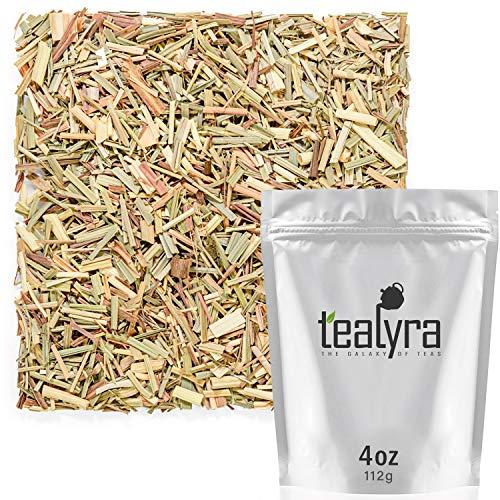 Loose Herbs Ounce 4 - Tealyra - Pure Lemongrass - Loose Leaf Herbal Tea - Wellness Healthy Herb Tea - Caffeine-Free - Organically Grown - 112g (4-ounce)