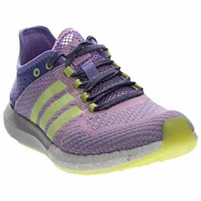 huge selection of 85425 9721f adidas Womens Climacool Cosmic Boost Light PurpleYellow Athletic Shoe