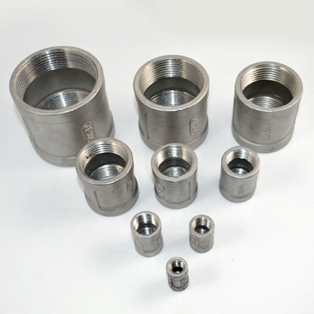 1//2 Allacciamento idrico Filettato di Accoppiamento F//F In Acciaio Inossidabile S304 Coppia Raccordi