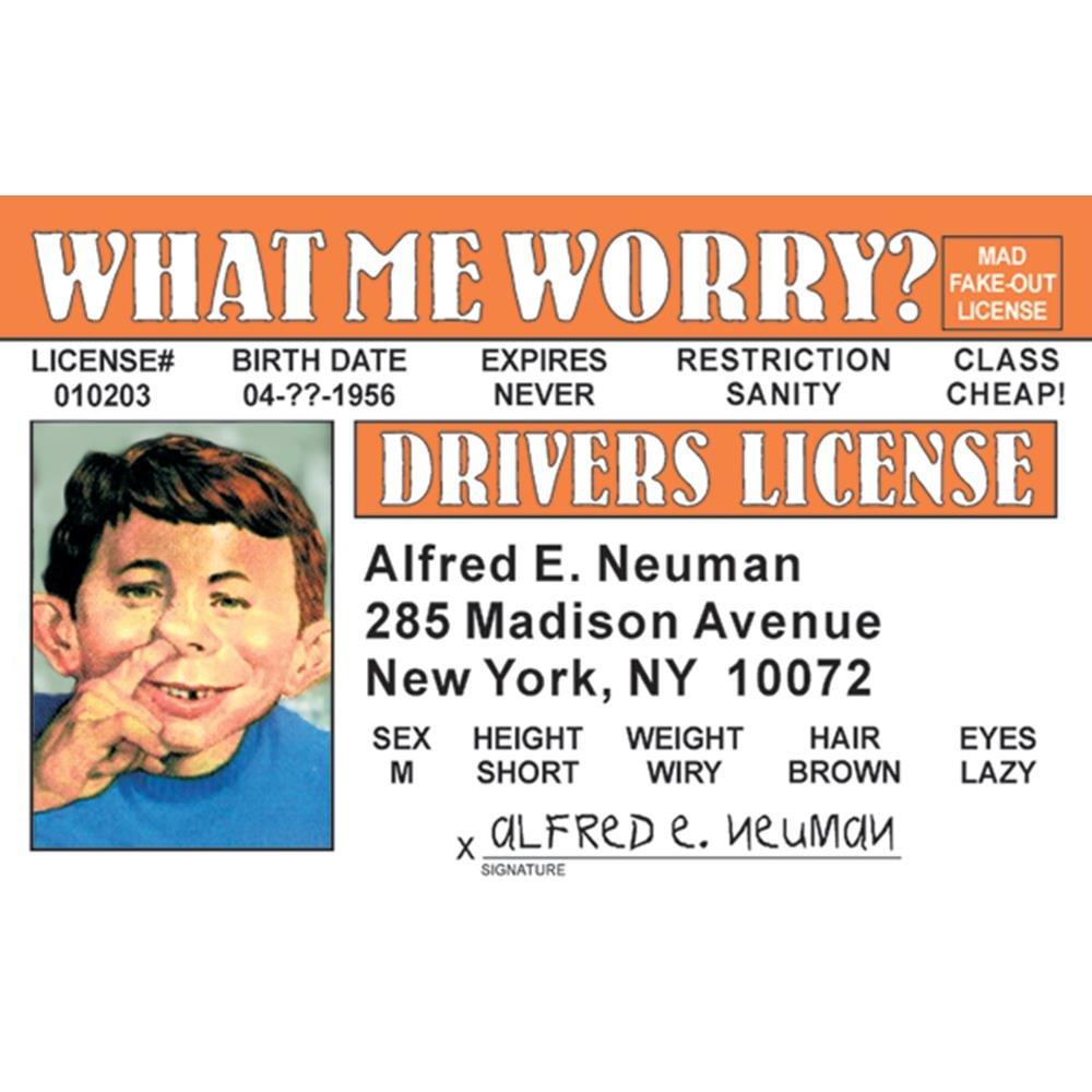 Signs 4 Fun Nanid Mad-Al E.s Drivers License
