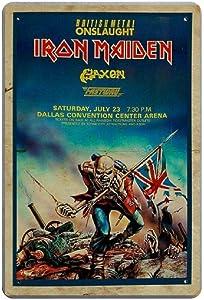Vintage Poster Metal Sign - Iron Maiden Gaxen Metal Tin Sign Wall Decor 8