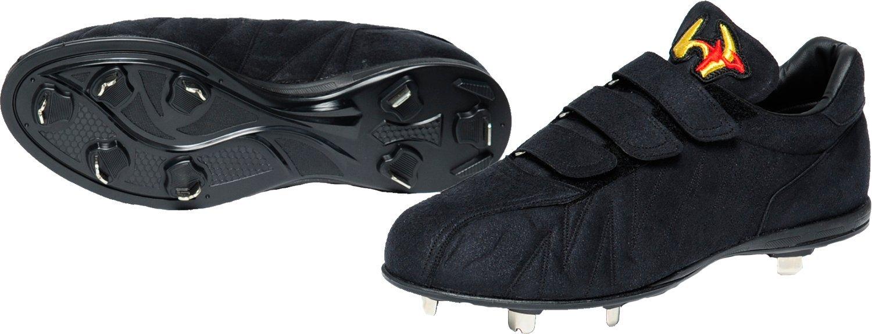 worldpegasus(ワールドペガサス) 野球 スパイク 樹脂底 スエード調 WSU803 B076X38CN1ブラック/ブラック 26.5cm