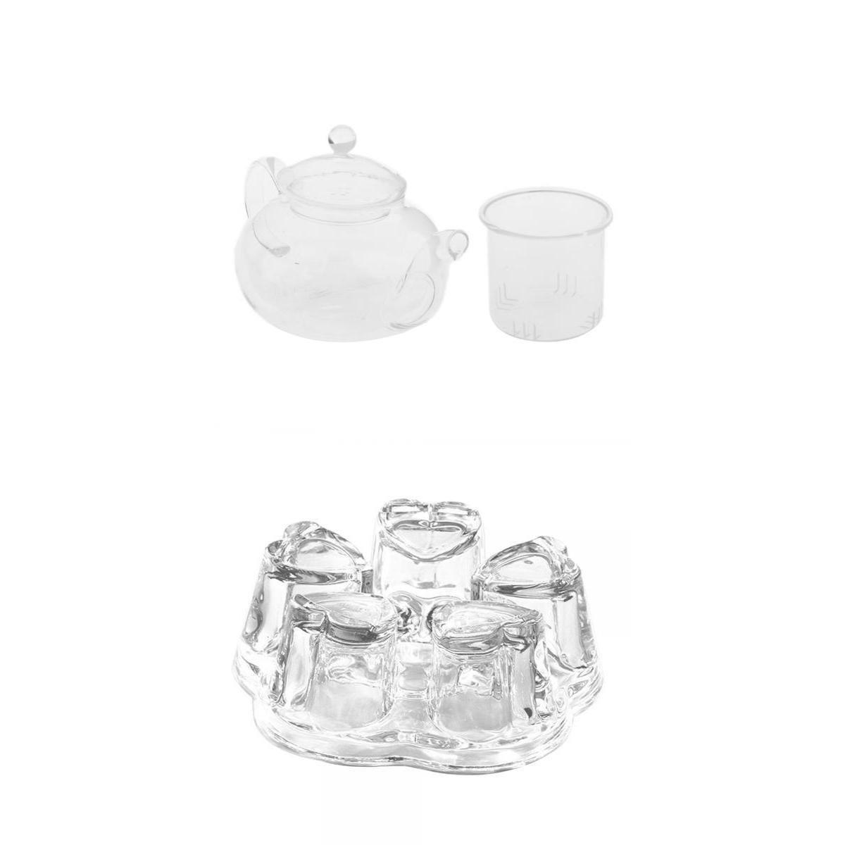 MagiDeal Heat Resistant Glass Teapot with Infuser Coffee Tea Leaf Herbal Warmer Kit