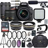 Nikon D5600 24.2 MP DSLR Camera Video Kit with AF-P 18-55mm VR Lens & AF-P 70-300mm ED VR Lens + LED Light + 32GB Memory + Filters + Macros + Deluxe Bag + Professional Accessories