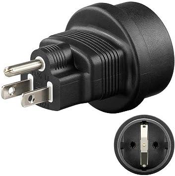 Zócalo de contacto de protección en el adaptador de viaje del adaptador de corriente de enchufe de EE. UU. / Japón, 1 pieza, 95308: Amazon.es: Electrónica
