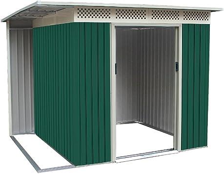 Box Casita para exterior jardín metálica zincado 257 xh187cm CHESTER B x 200: Amazon.es: Bricolaje y herramientas