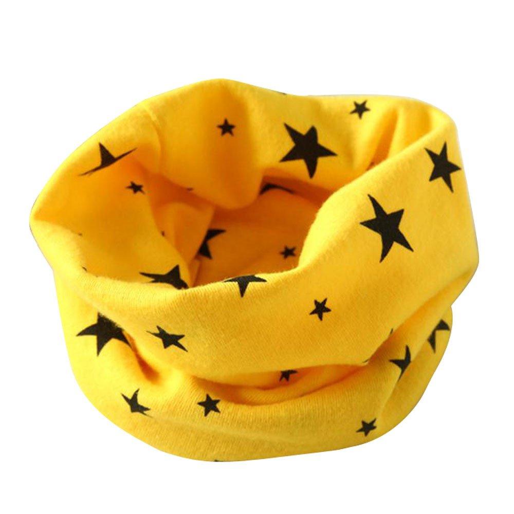 BBsmile Otoñ o Invierno Estrellas Patró n Algodó n Pañ uelos Niñ os Niñ as O Cuello Bufanda Bebé