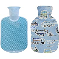 Fashy Hot Water Bottle with Cover (Blue car)