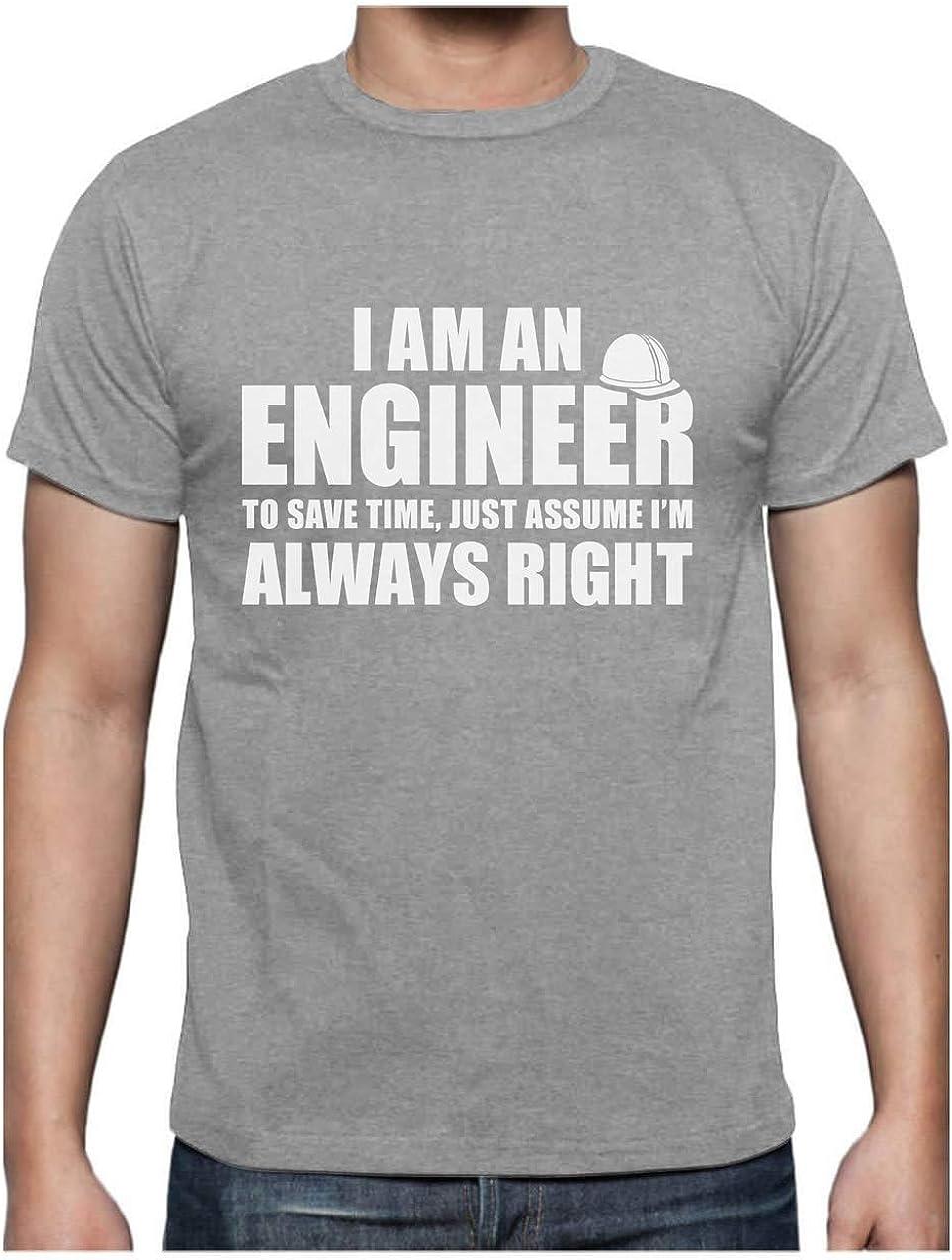 Green Turtle T-Shirts Camiseta para Hombre - Regalo para Ingeniero - I'm an Engineer, I'm Always Right