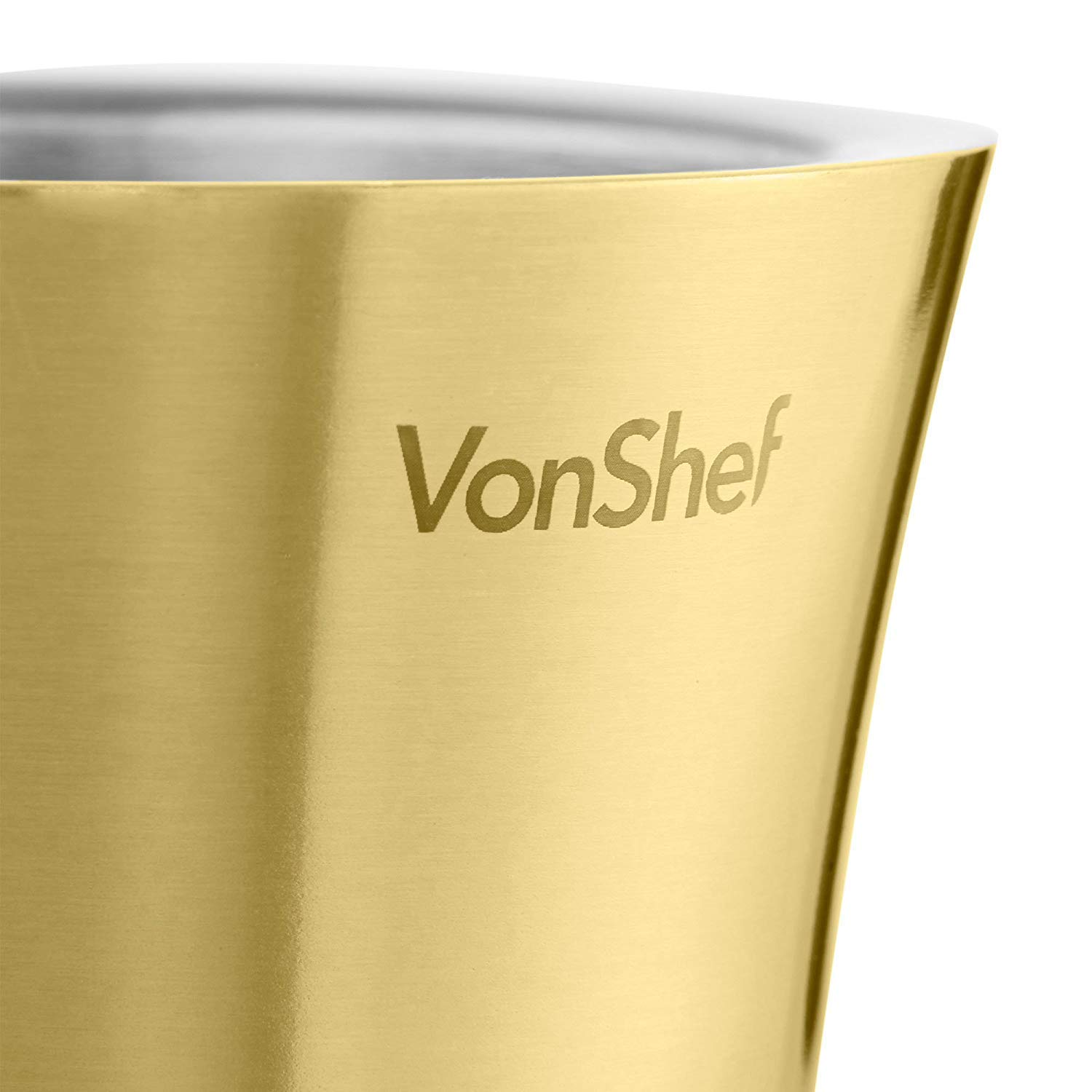 Stainless Steel Double-Wall Insulated VonShef Wine Cooler Bottle Holder