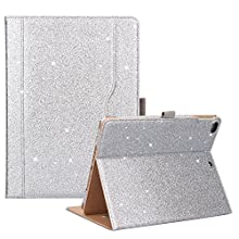 ProCase iPad 9.7 Case 2018/2017 iPad Case - Stand Folio Cover Case for Apple iPad 9.7 inch, Also Fit iPad Air 2 / iPad Air -Glitter Silver
