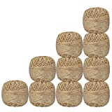 Lot of 10 Pcs Off-White with Metallic Golden Cotton Crochet Thread Cross Stitch For Knitting Tatting Doilies Skeins Lacey Craft Yarn