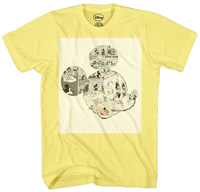 a605f6e2 Mickey Mouse Comic Strips Graphic Tee Classic Vintage Disneyland World Mens  Adult Graphic Tee T-shirt Apparel
