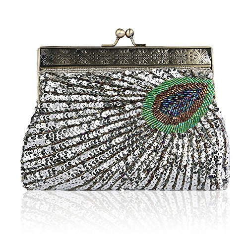 Vintage Evening Seed Handmade Party Purse 7 Color Women 6 Wedding Prom Wallet Sequined Bag Handheld Handbag Embroidery Bead YwSUEPq
