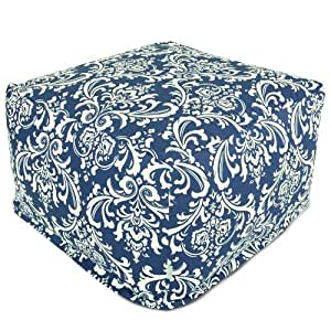 Majestic Home Goods French Quarter Ottoman, Large, Navy Blue