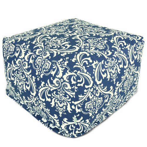 Majestic Home Goods French Quarter Ottoman, Large, Navy Blue by Majestic Home Goods