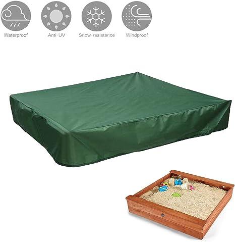 SUNDUXY Funda para Sandbox de Arenero, Funda Protectora para Muebles de jardín, Impermeable Anti-Viento/Lluvia/UV/Polvo Cubierta Protectora Exterior,Verde,150X150cm: Amazon.es: Hogar