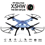 GoolRC X5HW Wifi FPV Drone with 0.3MP Camera Live Video Drone Altitude Hold Function RC Quadcopter with 3D Flips(Blue)