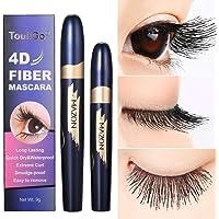4D Mascara,Fiber Eyelash Mascara imperméable à l'eau de fibre de soie,Fiber De Soie Cils Noir Mascara,Un Mascara Gel,Les Cils Sont Courbes
