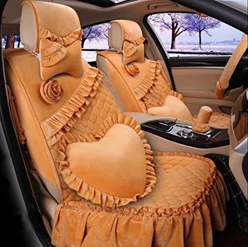romantic-ruffles-velvet-vehicle-car-seat-covers-and-accessories-set-17pcs-brown