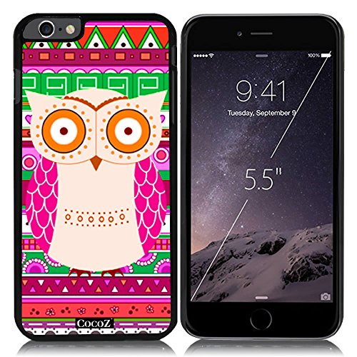 Oasis Colour Block (New Apple iPhone 6 s Plus 5.5-inch CocoZ Case Cute owl Designs PC (Black pc & Cute owl 30))